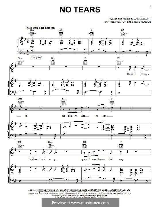 No Tears: Для голоса и фортепиано (или гитары) by Steve Robson, Wayne Anthony Hector
