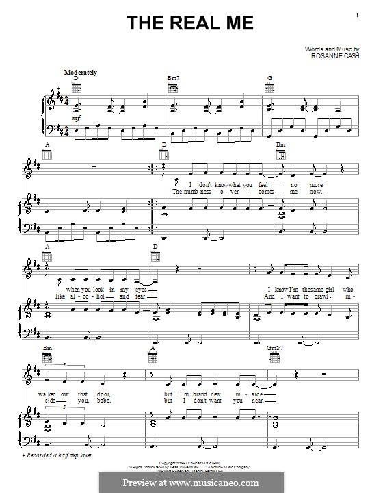 The Real Me: Для голоса и фортепиано (или гитары) by Rosanne Cash
