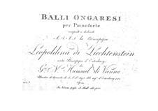 Венгерские танцы, Op.23: Венгерские танцы by Иоганн Непомук Гуммель