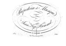 Попурри No.2 по мотивам 'Ослиной шкуры', Op.59: Попурри No.2 по мотивам 'Ослиной шкуры' by Иоганн Непомук Гуммель