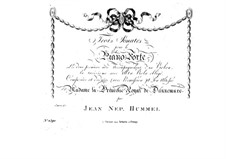 Сонаты для фортепиано и струнных, Op.5: Сонаты для фортепиано и струнных by Иоганн Непомук Гуммель