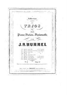 Фортепианное трио No.5 соль мажор, Op.65: Фортепианное трио No.5 соль мажор by Иоганн Непомук Гуммель