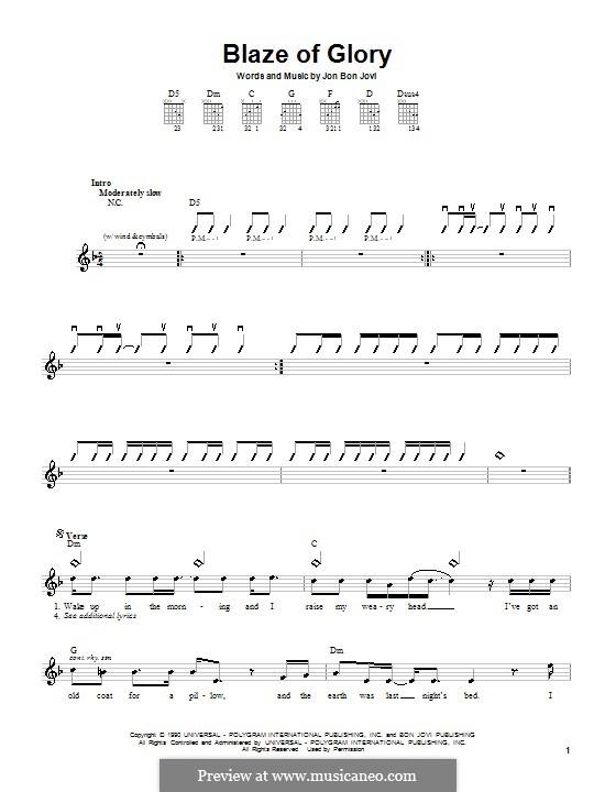 Blaze of Glory (Bon Jovi): Для гитары by Jon Bon Jovi