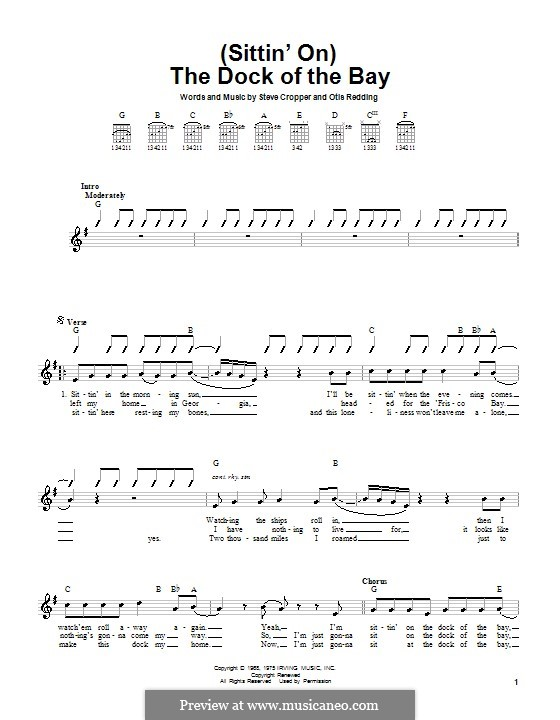 (Sittin' On) The Dock of the Bay: Для гитары by Otis Redding, Steve Cropper