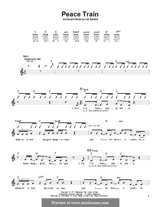 Peace Train: Для гитары by Cat Stevens
