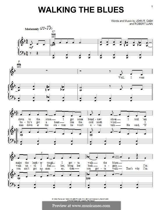 Walking the Blues: Для голоса и фортепиано (или гитары) by Robert Lunn