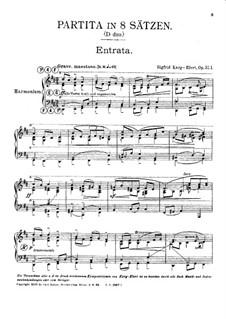 Партита ре мажор, Op.37: Партита ре мажор by Зигфрид Карг-Элерт
