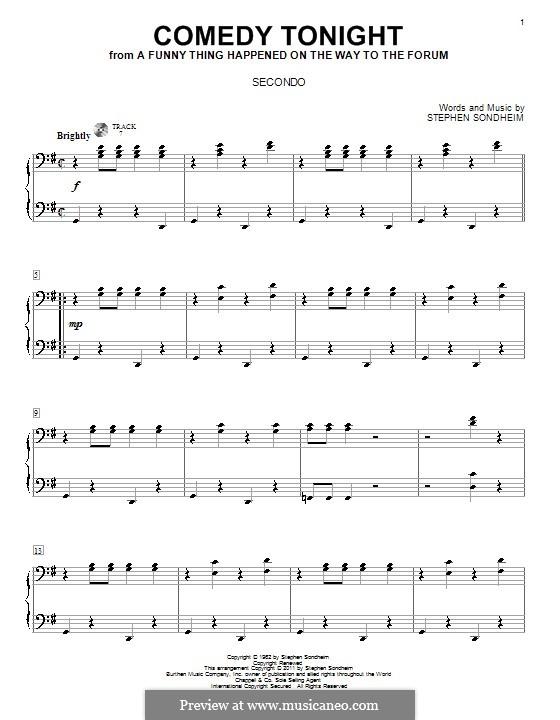Comedy Tonight: Для фортепиано в 4 руки by Stephen Sondheim
