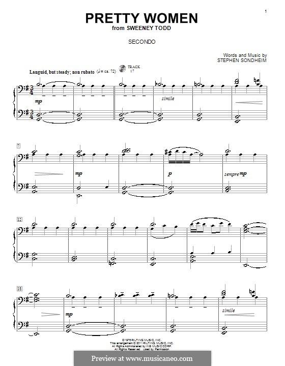 Pretty Women: Для фортепиано в 4 руки by Stephen Sondheim