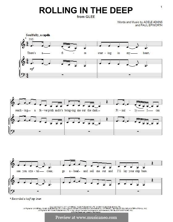 Vocal-instrumental version: Для голоса и фортепиано (или гитары) by Adele, Paul Epworth