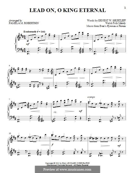 Lead On, O King Eternal: Для фортепиано by folklore