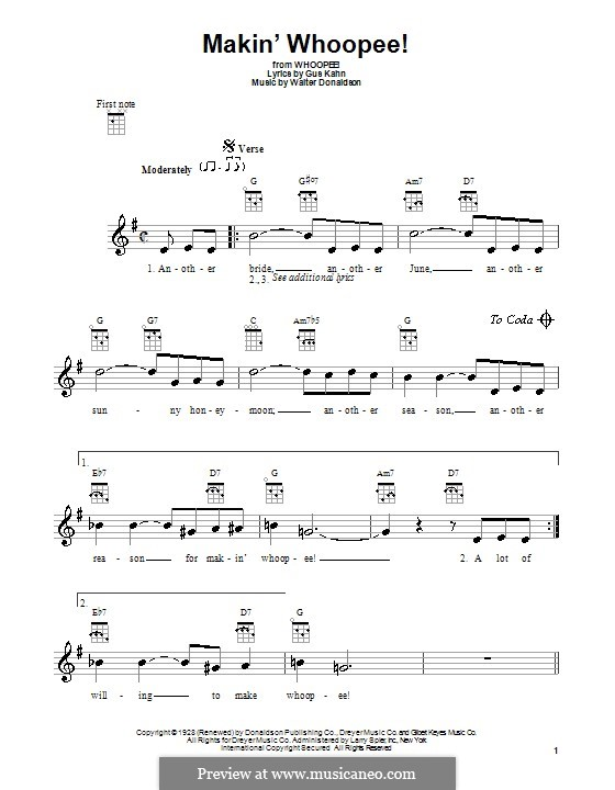 Makin' Whoopee!: Для укулеле (Harry Nilsson) by Уолтер Дональдсон