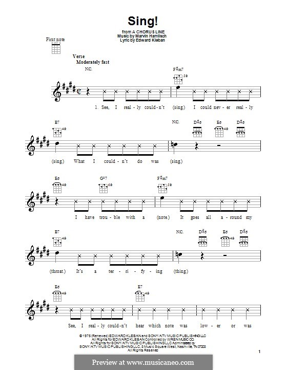 Sing!: Для укулеле by Marvin Hamlisch