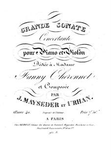 Соната для скрипки и фортепиано, Op.40: Соната для скрипки и фортепиано by Йозеф Майзедер