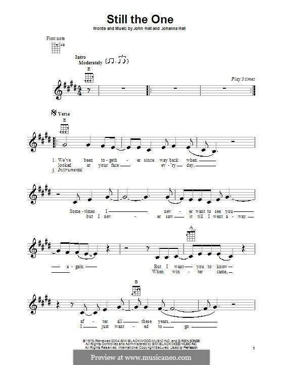 Still the One (Orleans): Для укулеле by John T. Hall, Johanna Hall