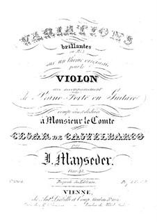 Вариации на оригинальную тему для скрипки и фортепиано (или гитары), Op.45: Вариации на оригинальную тему для скрипки и фортепиано (или гитары) by Йозеф Майзедер