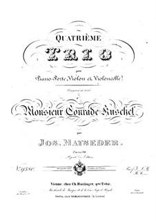 Фортепианное трио No.4 соль мажор, Op.59: Партии by Йозеф Майзедер