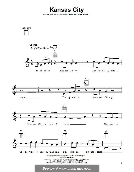 Kansas City: Для укулеле by Jerry Leiber, Mike Stoller