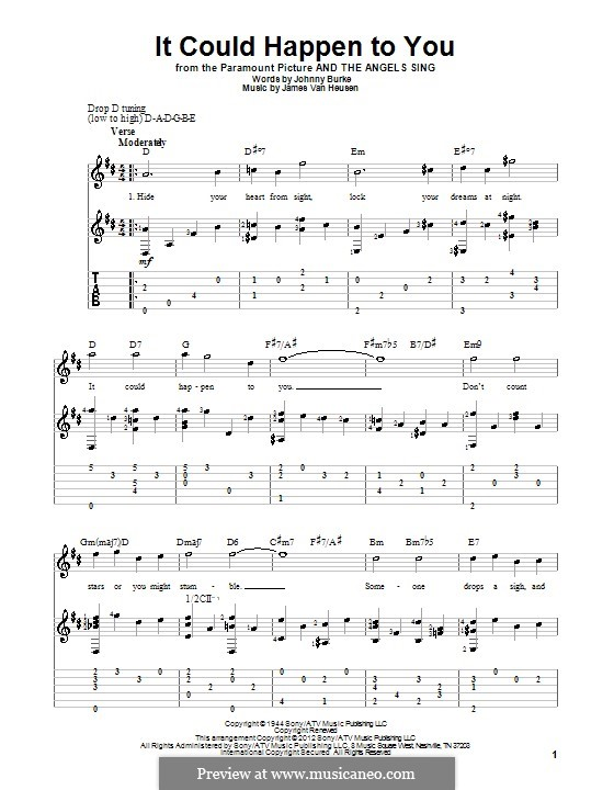It Could Happen to You: Гитарная табулатура by Jimmy Van Heusen