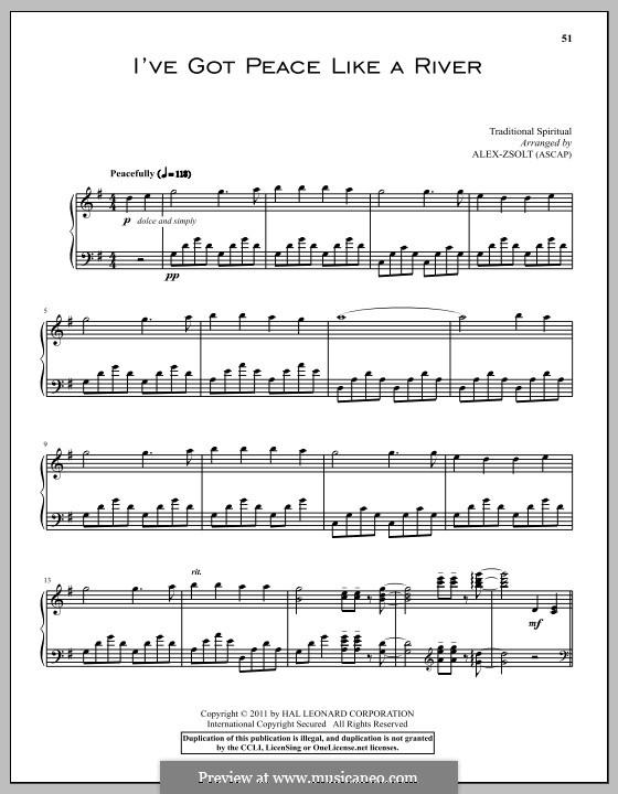 I've Got Peace Like a River: Для фортепиано by folklore