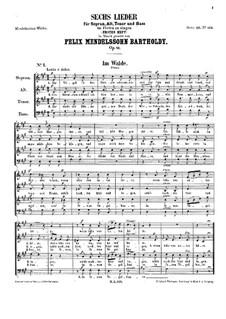 Шесть песен, Op.41: Сборник by Феликс Мендельсон-Бартольди