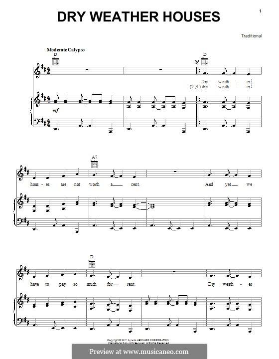 Dry Weather Houses: Для голоса и фортепиано (или гитары) by folklore