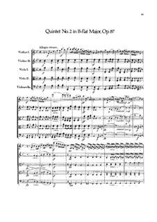 Струнный квинтет No.2 си-бемоль мажор, Op.87: Партитура by Феликс Мендельсон-Бартольди