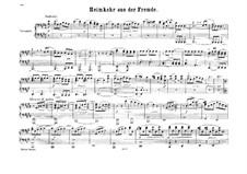 Возвращение с чужбины, Op.89: Фрагмент, для фортепиано в четыре руки by Феликс Мендельсон-Бартольди