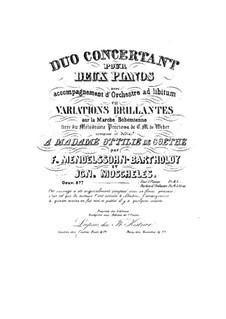 Duo Concertant en Variations Brillantes, Op.87b: Duo Concertant en Variations Brillantes by Феликс Мендельсон-Бартольди