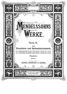 Фортепианный квартет No.1 до минор, Op.1: Фортепианный квартет No.1 до минор by Феликс Мендельсон-Бартольди