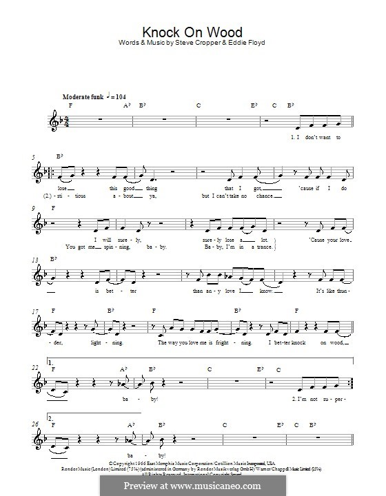 Knock on Wood: Мелодия, текст и аккорды by Eddie Floyd, Steve Cropper