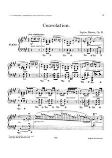 Consolation, Op.10: Consolation by Софи Ментер
