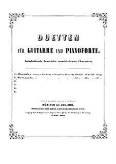 Баркарола для двух гитар, Op.41: Версия для гитары и фортепиано by Иоганн Каспар Мерц