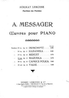 Мазурка для фортепиано, Op.13: Мазурка для фортепиано by Андре Мессаже