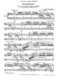 Парафраз на тему Вальса ре-бемоль мажор Шопена, Op.64 No.1: Парафраз на тему Вальса ре-бемоль мажор Шопена by Александр Михаловски