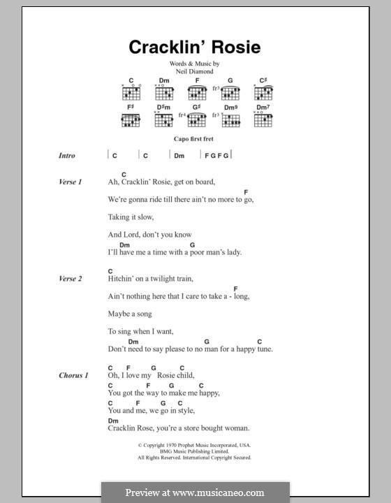 Cracklin' Rosie: Текст, аккорды by Neil Diamond
