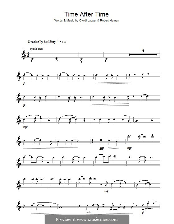 Time after Time: Для флейты by Cyndi Lauper, Robert Hyman
