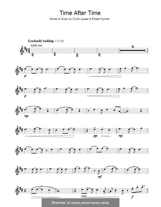 Time after Time: Для тенорового саксофона by Cyndi Lauper, Robert Hyman