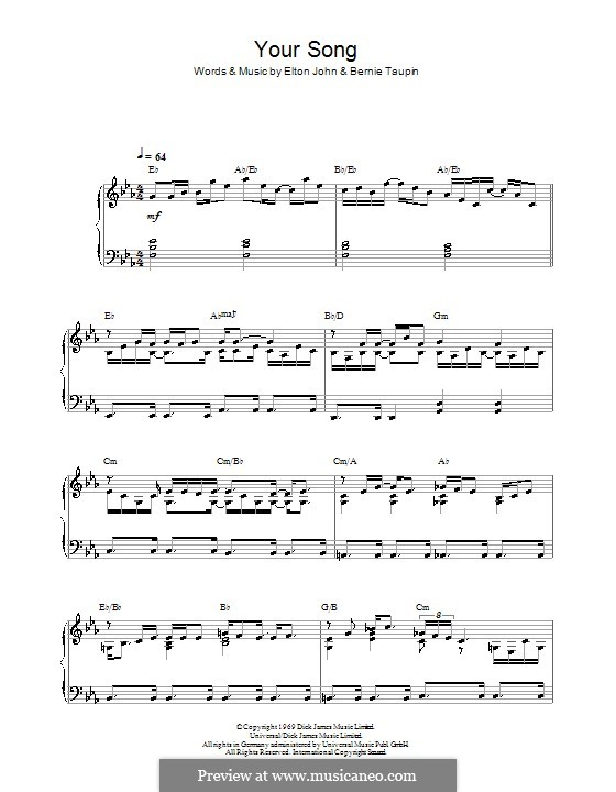 Your Song: Для фортепиано by Elton John