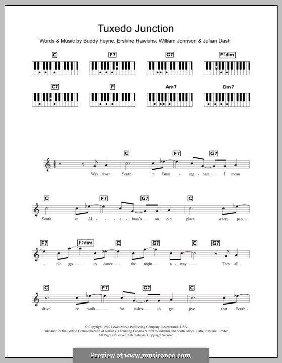 Tuxedo Junction: Для клавишного инструмента by Buddy Feyne, Erskine Hawkins, Julian Dash, William Johnson