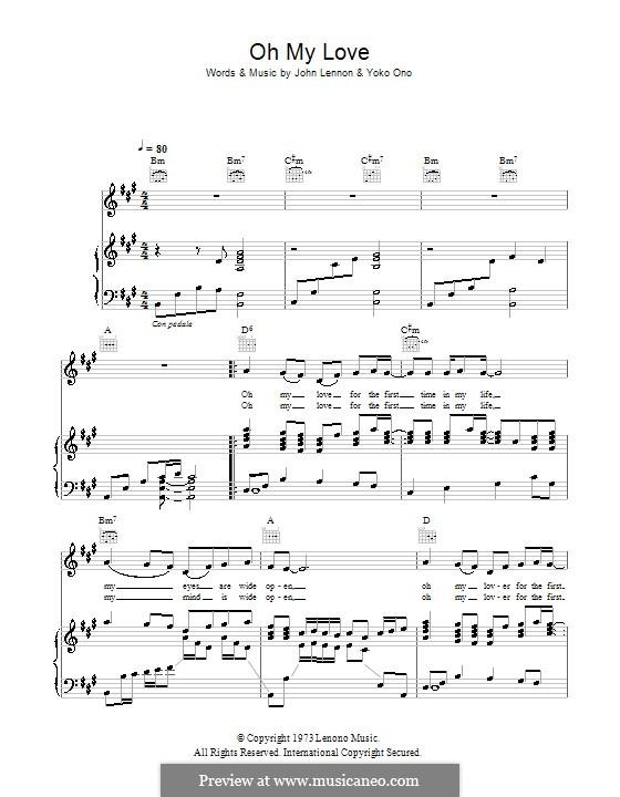 Oh My Love: Для голоса и фортепиано (или гитары) by John Lennon, Yoko Ono