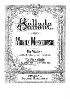 Две концертные пьесы для скрипки и фортепиано, Op.16: Версия для фортепиано by Мориц Мошковский