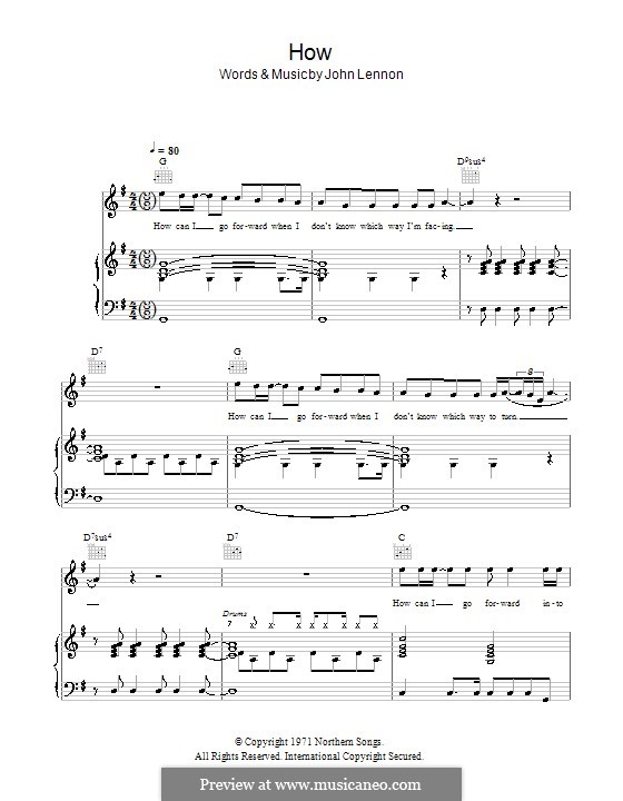 How: Для голоса и фортепиано (или гитары) by John Lennon