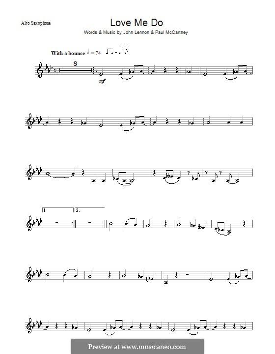 Love Me Do (The Beatles): Для альтового саксофона by John Lennon, Paul McCartney