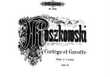 Две пьесы для фортепиано в четыре руки, Op.43: Две пьесы для фортепиано в четыре руки by Мориц Мошковский