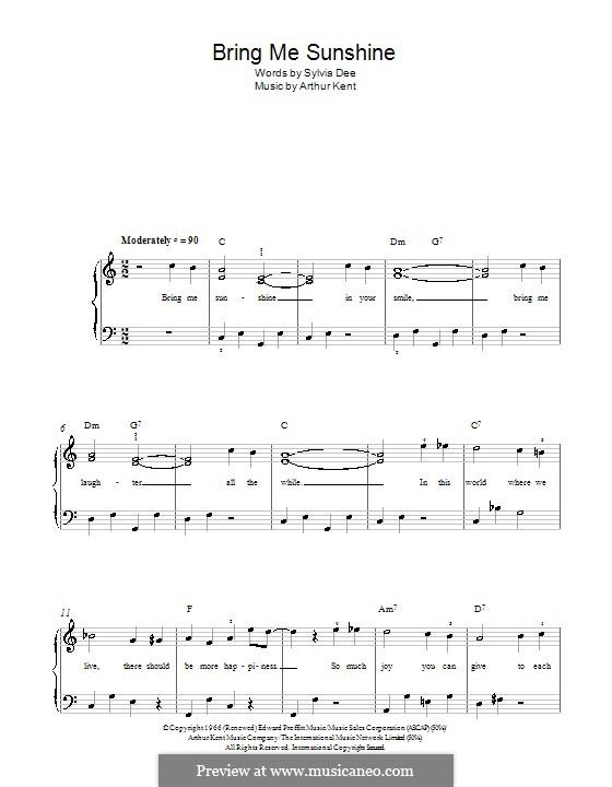Bring Me Sunshine: Для начинающего пианиста by Arthur Kent