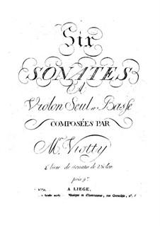 Шесть сонат для скрипки и виолончели, Op.4: Тетрадь 2, WV 7-12 by Джованни Баттиста Виотти