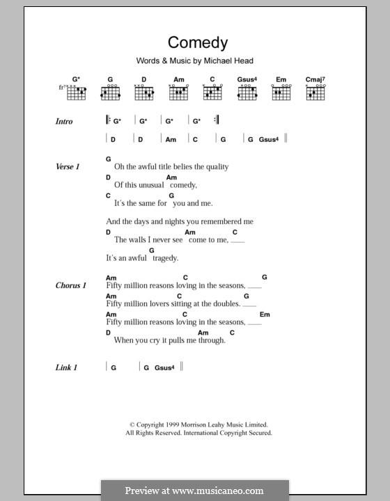 Comedy (Shack): Текст, аккорды by Michael Head