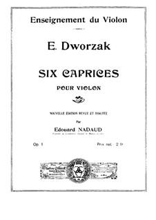 Шесть каприсов для скрипки, Op.1: Шесть каприсов для скрипки by Эусебио Дворжак фон Вальден