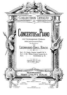 Концерт для фортепиано с оркестром No.1, J.98 Op.11: Переложение для двух фортепиано by Карл Мария фон Вебер
